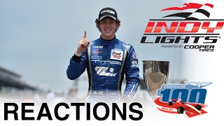 2017 Indy Lights Freedom 100 Reactions