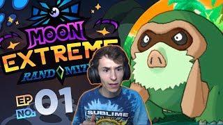 THE CRAZIEST START EVER! - Pokémon Moon EXTREME Randomizer Nuzlocke! #01