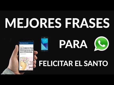 Las Mejores Frases de Felicitaciones de Santo para WhatsApp