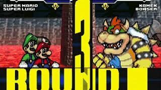 Super Mario and Super Luigi vs Kamek and Bowser MUGEN Battle!!!