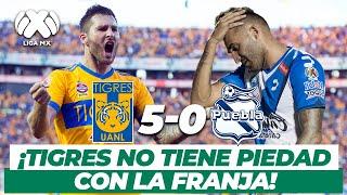¡Qué goleada! Tigres pisotea al Puebla en el Volcán | Tigres 5-0 Puebla | AP-2017 | TUDN