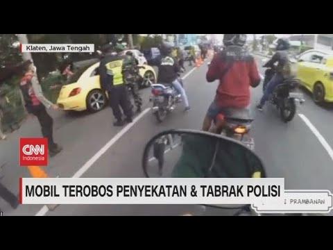 Download Mobil Terobos Penyekatan Dan Tabrak Polisi