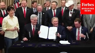 Texas Gov. Greg Abbott Signs Constitutional Carry And Other Second Amendment Bills Into Law