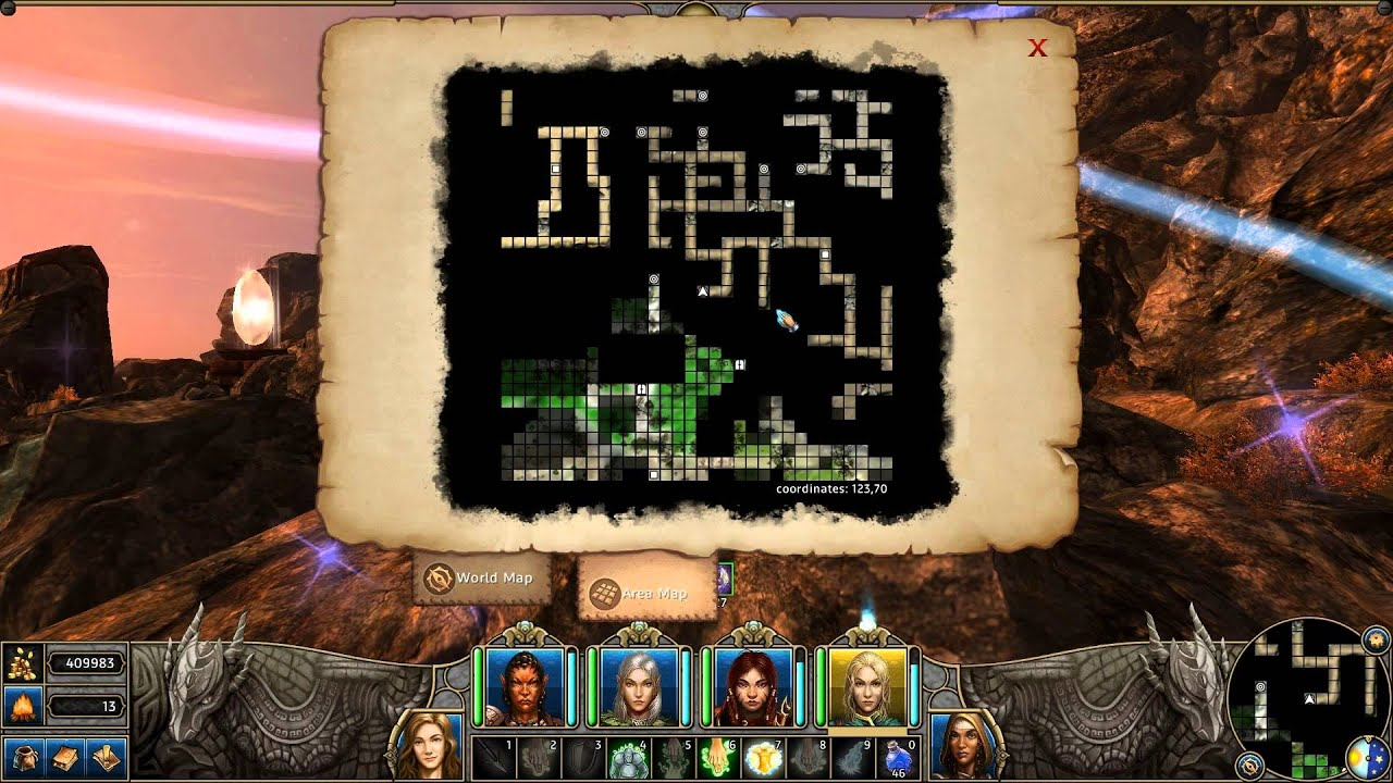 Might And Magic X World Map.Might And Magic X Legacy Gameplay Part 90 Vantyr Range And Fire