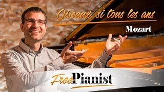 Oiseaux, si tous les ans - KARAOKE / PIANO ACCOMPANIMENT - Mozart