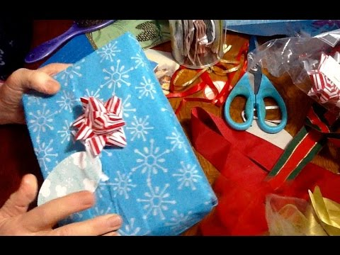 gift wrapping for the grown ups soft spoken asmr chewing gum scissors tape tissue paper. Black Bedroom Furniture Sets. Home Design Ideas