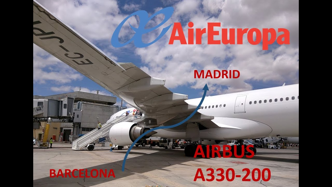Flight report air europa a330 barcelona madrid full for Air europa oficinas en madrid