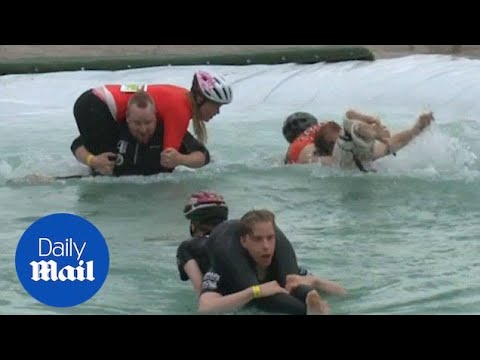 Lithuanian couple win world wife-carrying competition