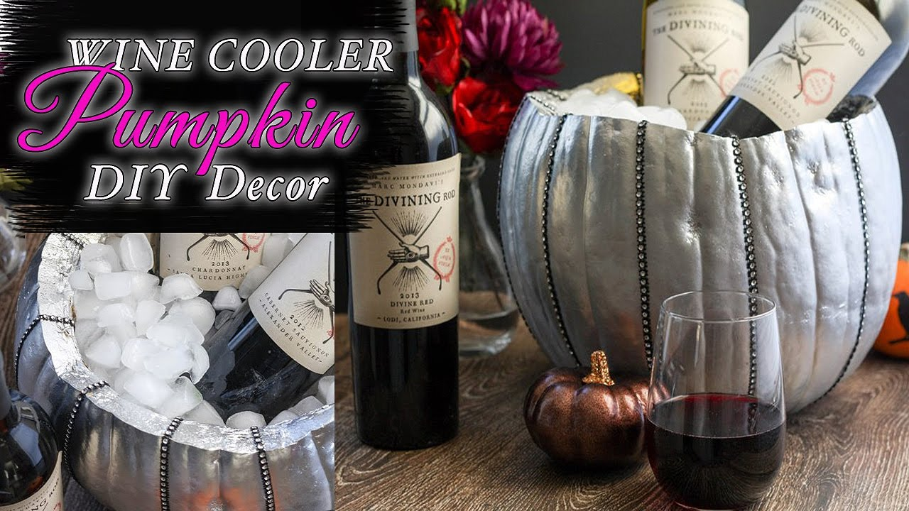 table decor halloween decorations wine cooler pumpkin