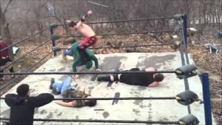 UNW Backyard Wrestling  Jamie vs Ben Jameson Hardcore match Non Title