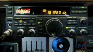 Yaesu FT 890 using a tuned Sirio 827 vertical antenna..