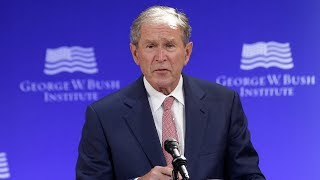 George W. Bush's ardent speech on democracy, in 3 minutes