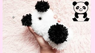 DIY:  FLUFFY panda Phonecase from yarn