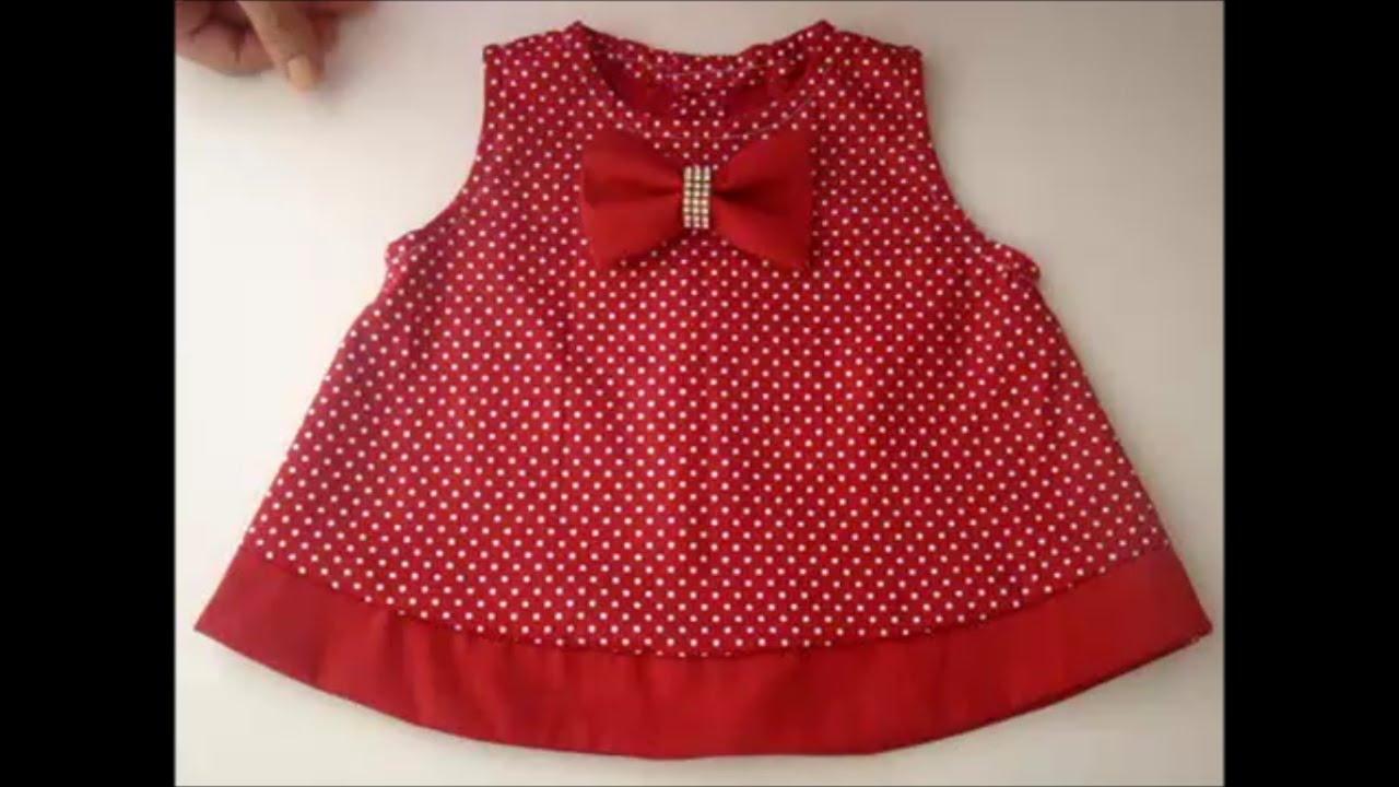 Vestido Infantil Fácil Com Molde De 3 Meses A 2 Anos