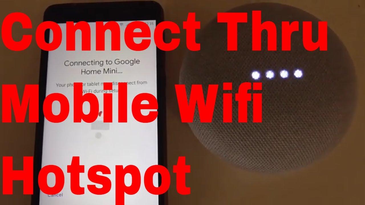 How to Setup Google Home Mini to Mobile Data Hotspot||Connect Google