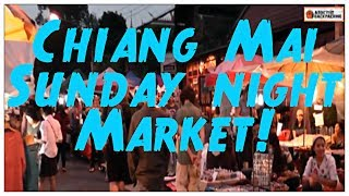 Chiang Mai Thailand Sunday night market 2014! [HD]