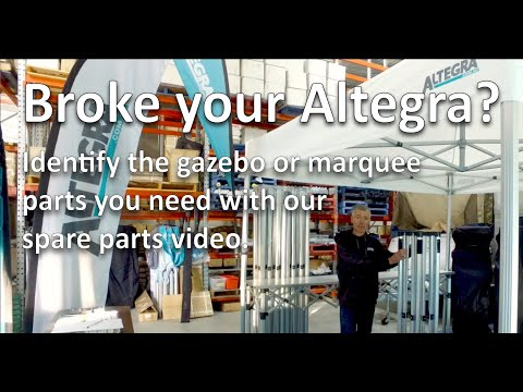 Gazebo And Marquee Spare Parts Overview - Learn About Your Altegra Frame Parts For Easy Replacement.