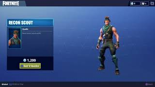 Recon Scout Rare Skin for Fortnite Battle Royale Daily Item