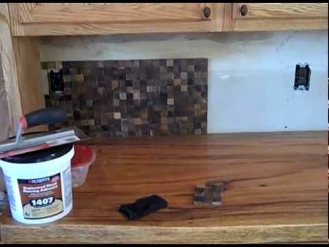 Wood Tile Backsplash - YouTube