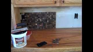 Wood Tile Backsplash