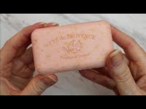 ASMR BEAUTIFUL ROSE🌹 PETAL FRENCH MADE SOAP Episoap 167
