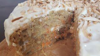 yummy carrot cake and frosting...كيكة الجزر اللذيذة