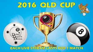 2016 Qld Cup - Men's 8 Ball Team - Darling Downs v All Stars 8:30pm