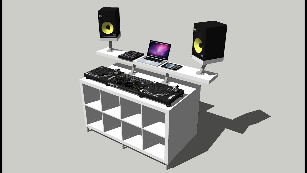 guide diy dj booth from ikea parts my build 1 youtube. Black Bedroom Furniture Sets. Home Design Ideas