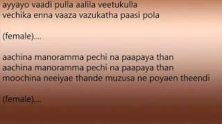 Dang Dang (Manam Kothi paravai) Male Karoke Created By Anbu