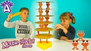 Мышиная башня Для детей Делаем башню из сыра и мышей. Друзяки Новые Серии 2016 года Игры для Детей