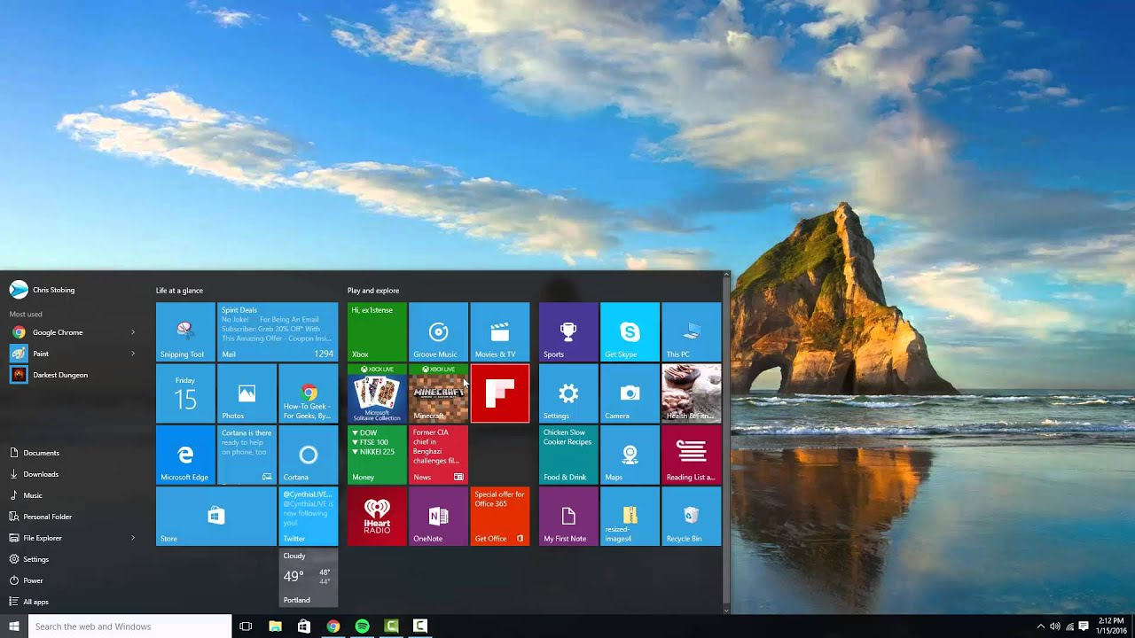 how to get to settings windows 10 without start menu