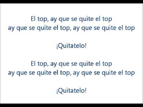 Tapo & Raya   Quitate el top LYRICS