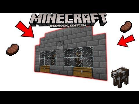 Minecraft Bedrock Edition [] Fully functionally cow farm [] Tutorial