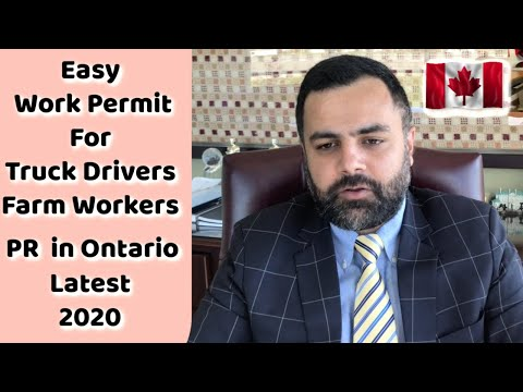 Work Permit Very Easy Truck Drivers Farm Workers | Immigration Update 2020