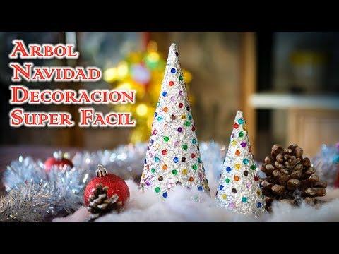 Arbol Navidad Cono de Aluminio Decoración Super Facil y Muy Bonito
