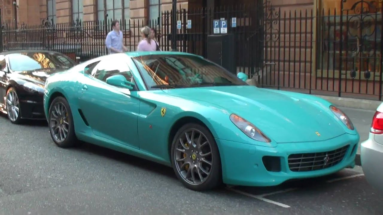 Arab Turquoise Ferrari 599 Walkaround In London Youtube