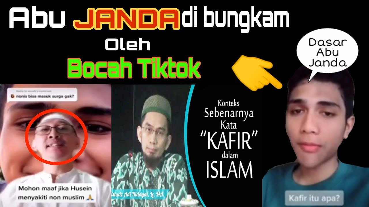 Heboh Abu Janda Dipermalukan Oleh Bocah Tiktok Mengenai Makna Kata Kafir Youtube