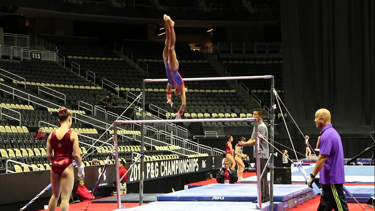 Uneven bars naked routine