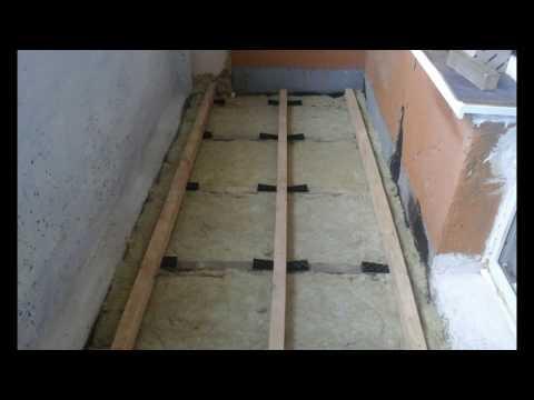 Обустройство лоджии (часть - 1). Как сделать пол на лоджии (балконе).