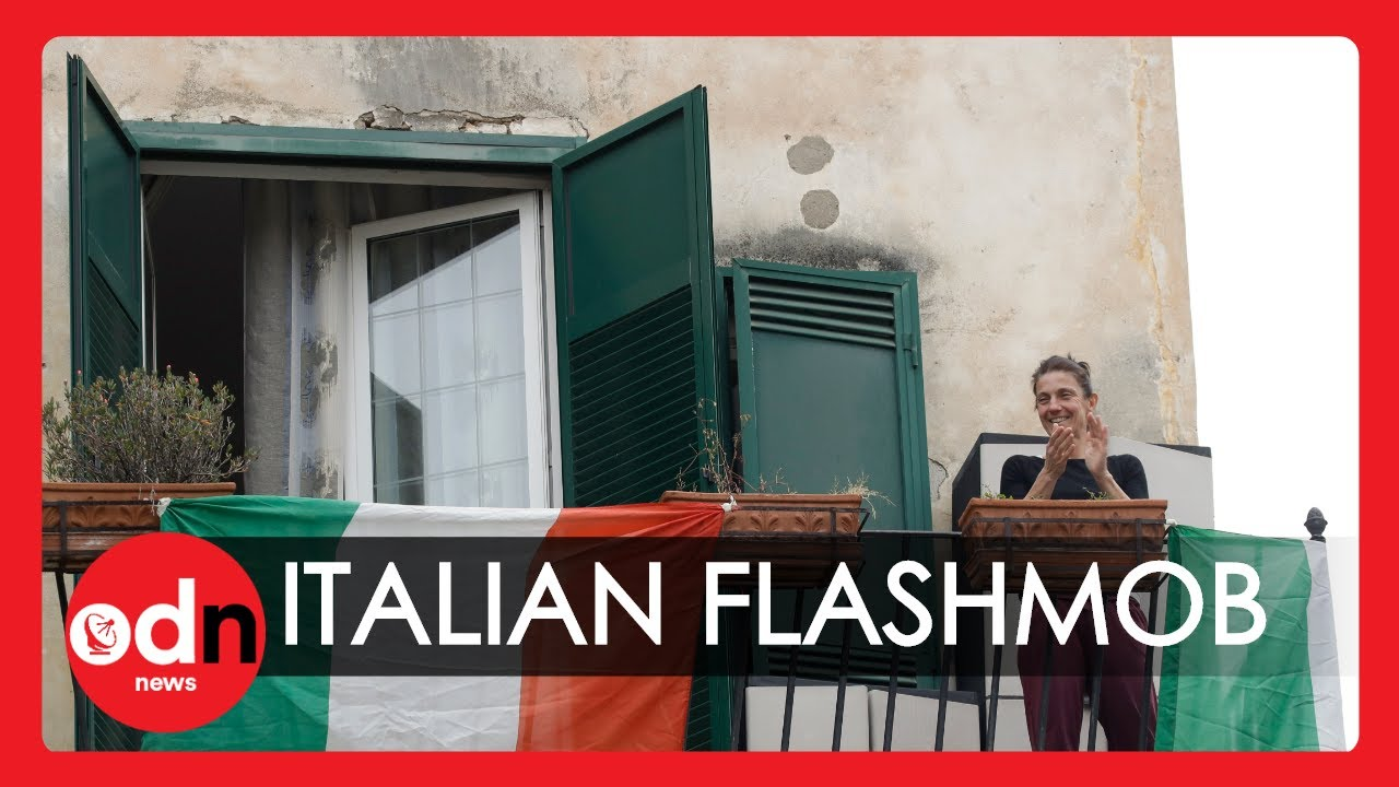 Heartwarming Moments Quarantined Italians Sing Together from Balconies