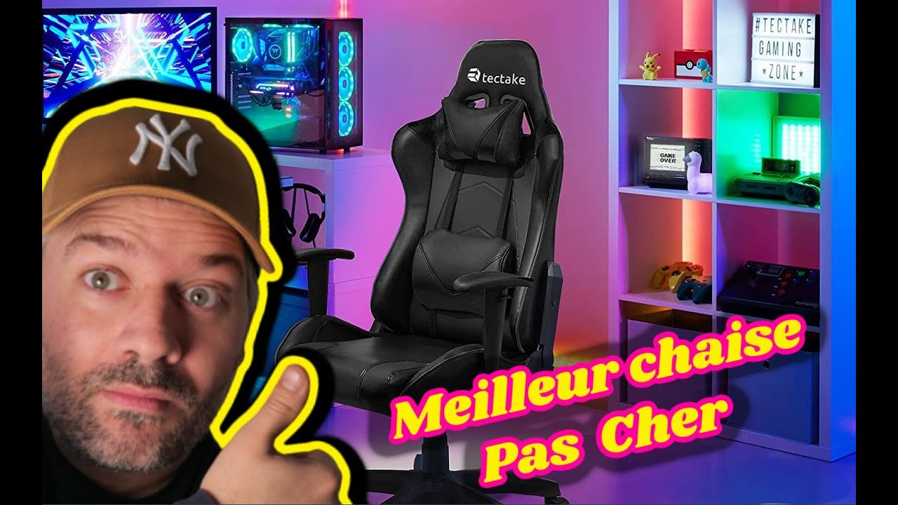 Meilleur chaise gamer 2017 tectake youtube for Chaise youtubeur