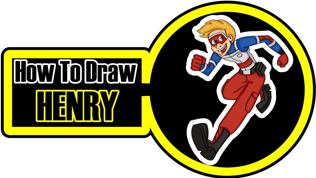 How To Draw The Adventures Of Kid Danger Character Henry Hart Easy Step By Step Coloring Pages Youtube