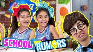 School Rumors What Ev's - Types of Kids at School - Funny Skits // GEM Sisters