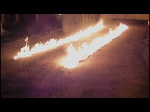 A Re Creation Of The Fire Trails From The Delorean In