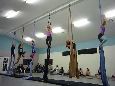 intermediate aerial silks class performance -