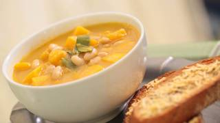 White Bean & Butternut Squash Soup Recipe || Kin Eats