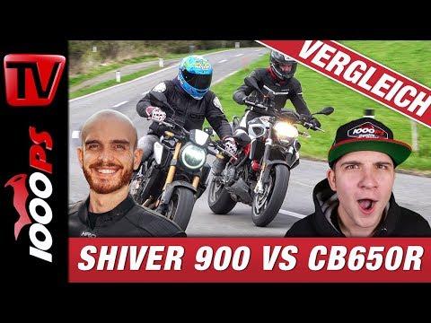 Honda CB650R vs. Aprilia Shiver 900 Vergleich - wie viele Zylinder gewinnen die Mittelklasse?