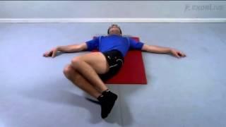 Ryggliggende sidebevegelse av bena