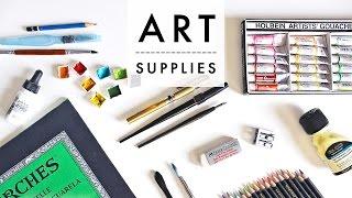 My Favorite Art Supplies!