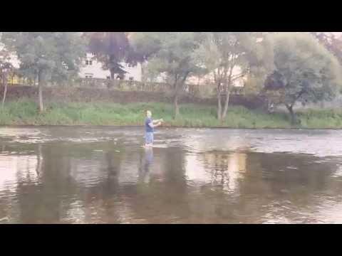 Andy dei 2 keier beim Fly Fishing